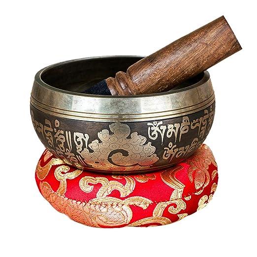 WYYSYNXB Cuenco Tibetano a Mano para la Meditación Chakra ...