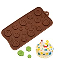 HENGSONG Silicone Fondant Chocolate Mould Button Shape DIY Candy Mould Cake Decor Icing Sugarcraft Mold Baking Tools