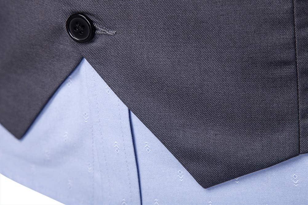 Versance M/änner Polyester Slim Fit Mehrfachschnalle Mode Schr/äger Saum Weste