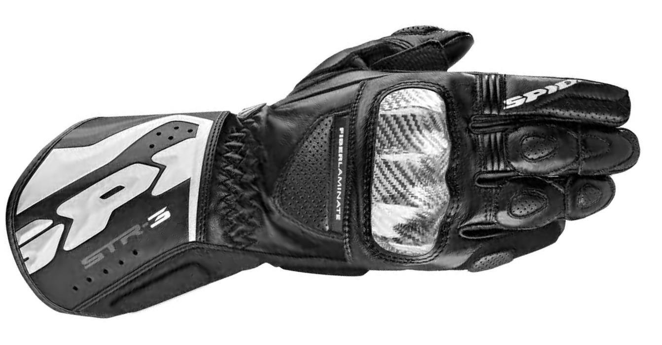 Spidi Sport S.R.L. STR-3 Gloves, Distinct Name: Black, Gender: Mens/Unisex, Size: 2XL, Apparel Material: Leather, Primary Color: Black A139-026-2X