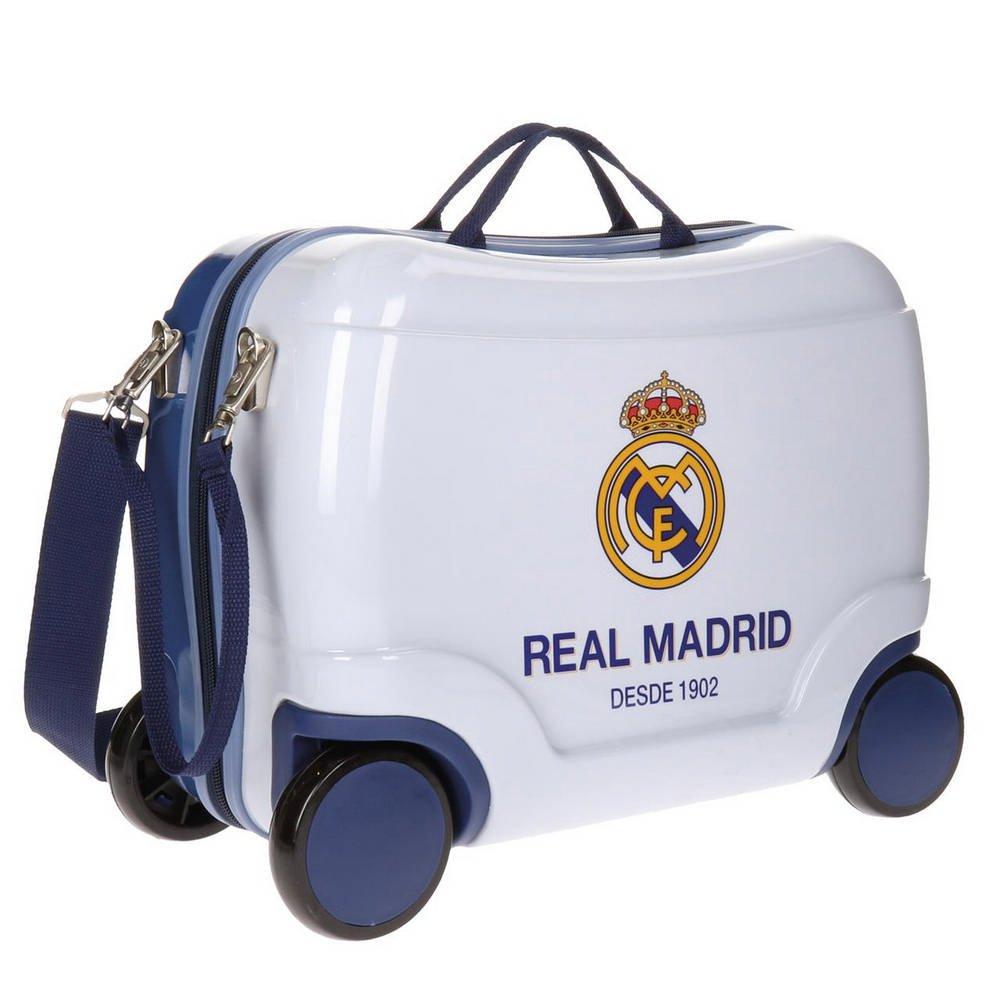 Real Madrid Futbol Time Kindergepäck, 41 cm, 25 liters, Weiß (Blanco)