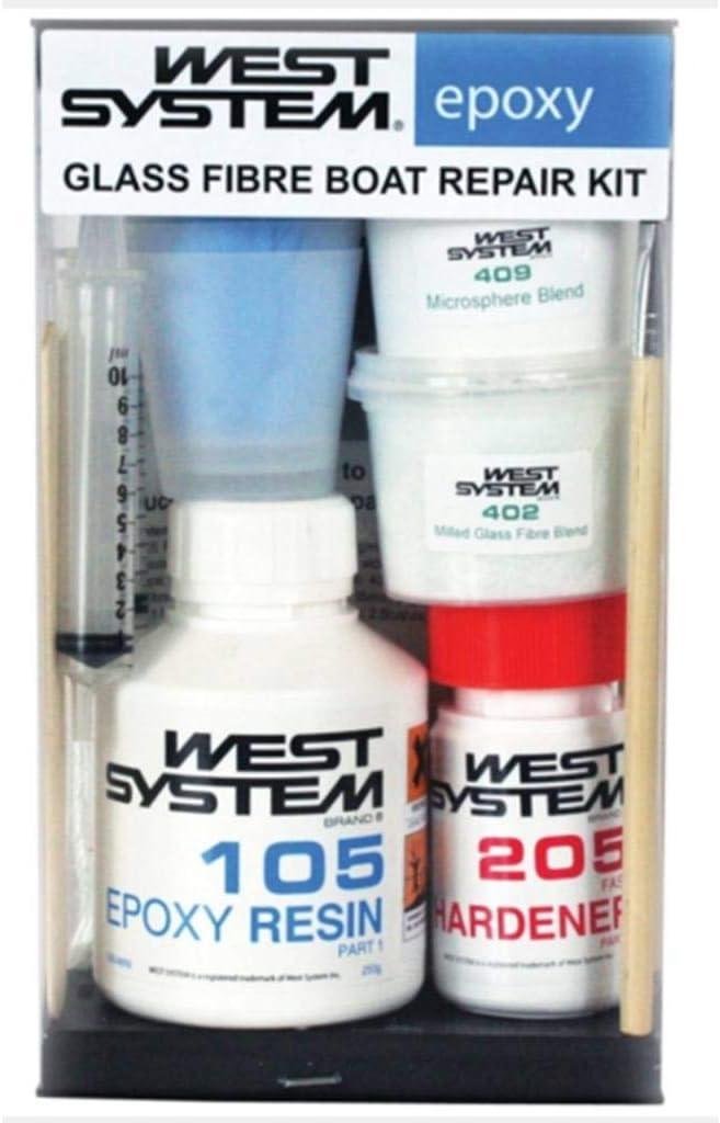 Wessix Resins - Juego de reparación de fibra de vidrio para barco ...