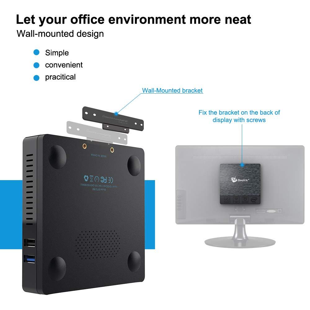 Output Display 1080P //40K@30Hz Mini Pc,Z83 II Intel Atom x5-Z8350 4 Processor 4GB//64GB Support Dual-Band 2.4G+5.8G W-iFi//BT-4.0//HD-MI