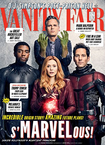 (Vanity Fair Magazine (Holiday 2017/2018) Chadwick Boseman, Elizabeth Olsen, Mark Ruffalo, Paul Rudd)