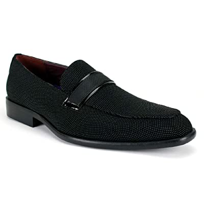 AFTER MIDNIGHT 6705 Black Loafer with Strap | Loafers & Slip-Ons