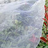 Agfabric Standard Insect Screen & Garden Netting against Bugs, Birds & Squirrels - 4ftx100ft of Mesh Netting, White