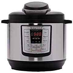 Instant Pot Lux 6-in-1 Electric Pressure Cooker Slow Cooker Rice Cooker Steamer Saute and Warmer 6 Quart 12 One-Touch Programs