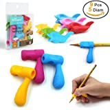 Pencil Grips,Firesara Silicone Ergonomic Writing Claw Aid Dolphin and Handle Style Pencils Training Grip Holder for Kids Students Kindergarten Adults Right Handed the Aged Disabled Hands (9pcs)