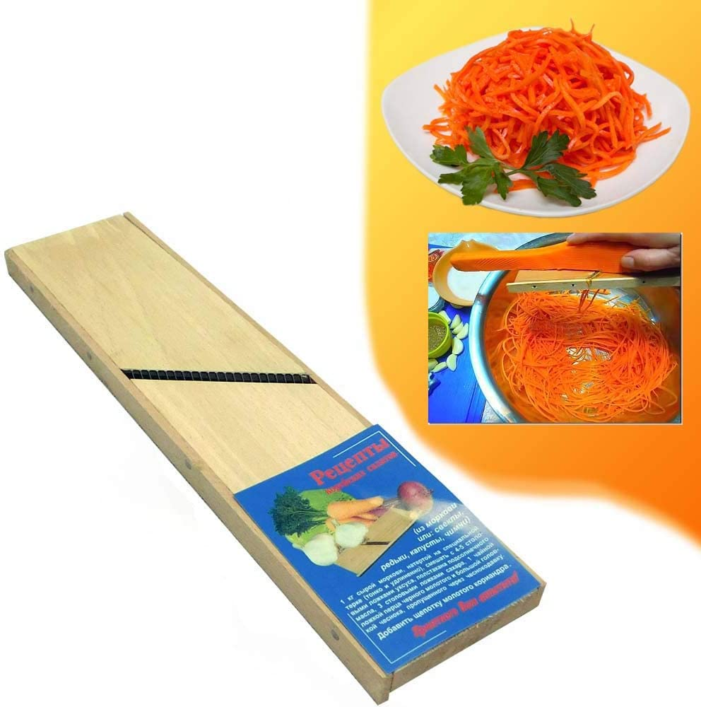 WOODEN GRATER FOR KOREAN CARROT Russian Ukrainian