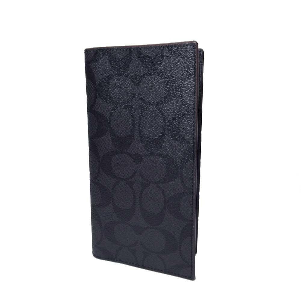 コーチ COACH 財布 F25518 PVC シグネチャー ブレスト ポケット ロングウォレット 二つ折り 長財布(小銭入れなし) N3A 【アウトレット】【並行輸入品】 B07BHM7PLP