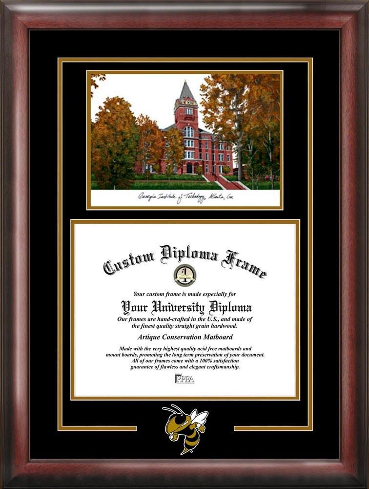 Amazon.com : Georgia Tech GT Alumni Mahogany Diploma Frame : Sports ...