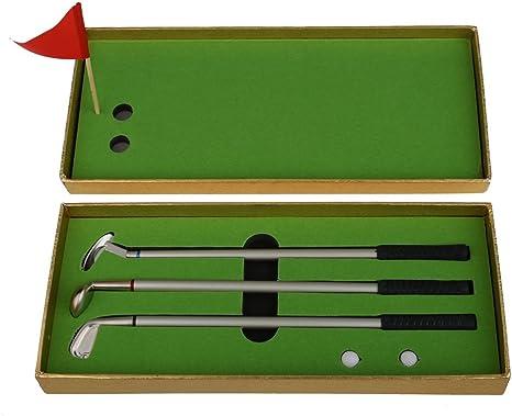 wiseminnie 3pcs Mini Modelos de palos de golf bolígrafo de punta ...