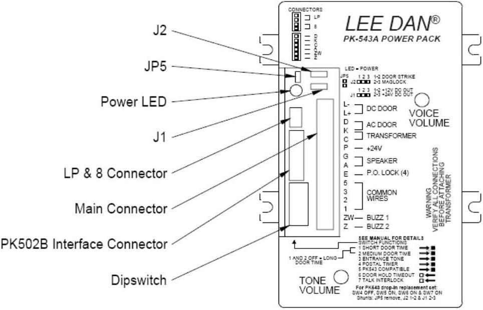 Amazon.com: LEE DAN PK-543A 5-4-3 WIRE APARTMENT INTERCOM ... on apartment telephone wiring, home intercom wiring-diagram, aiphone intercom wiring-diagram, entry door intercom wiring-diagram, phone intercom wiring-diagram,