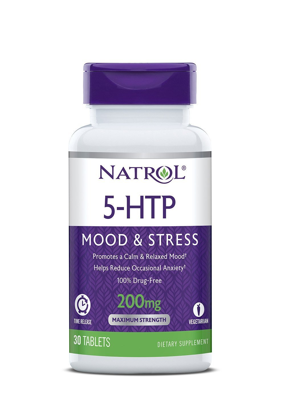 Natrol 5-HTP Mood and Stress, 200mg, 60 Tablets