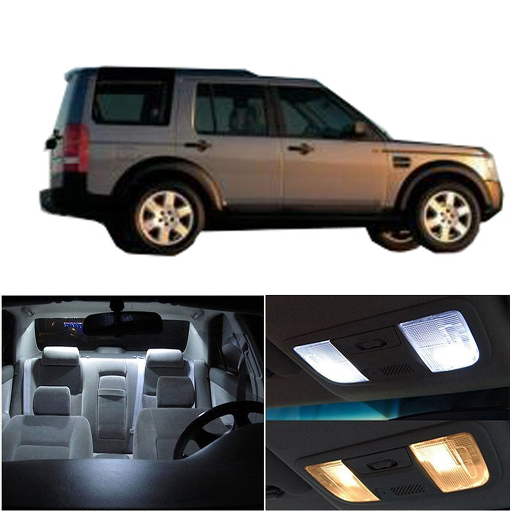 cciyu Replacement fit for Land Rover Discovery 1997-2004 Interior LED Light Package Kit 11 Pack White Light 816493-5210-1500103241