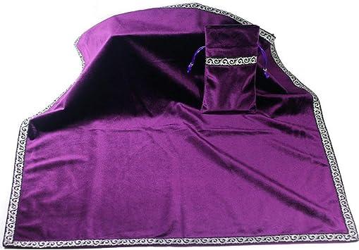 FAJIE Altar Tarot Cards Set Table Cloth Divination Tapestry Wicca Velvet Vintage Retro Antistatic Black//Purple//Blue//Red