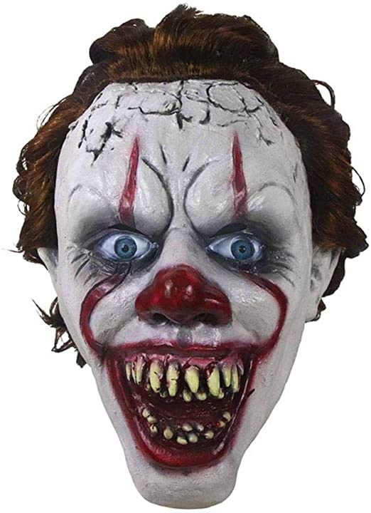 Scary Ghost Mask Halloween Cosplay Costume Horror Scary Mask Party Zombie Clown