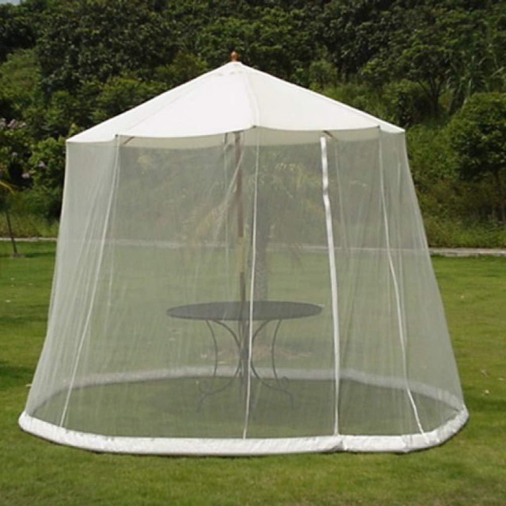 Gazebo Canopy Mosquito Netting,White,275x220cm Paraguas del Jard/íN Al Aire Libre Pantalla De La Mesa Parasol Mosquitera Cubierta De La Red De Insectos