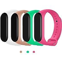 MAKACTUA Bransoletka kompatybilna z Xiaomi Mi Band 4 dla kobiet i mężczyzn, silikonowa bransoletka do fitnessu i zegarka…