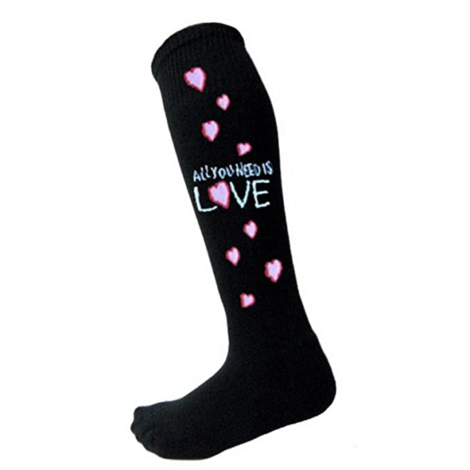 The Beatles All You Need Oficial De las mujeres negro Knee High Calcetines (UK: Amazon.es: Ropa y accesorios