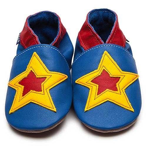 Azul Niños Baby Funda de Piel Suave (Se Vende - Zapatos de Carrito Para Pow Azul Amarillo Y Rojo, Color Azul, Talla 43,5: Amazon.es: Zapatos y complementos