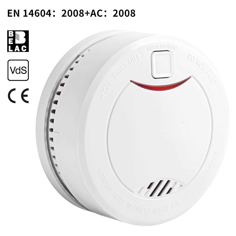 HEIMAN Detector de Humo, Batería de Litio de Larga Duración 10 Años, DIN EN 14604, VDS, Detectores fotoeléctricos de Humo 626PHS (5 Pack): Amazon.es: ...