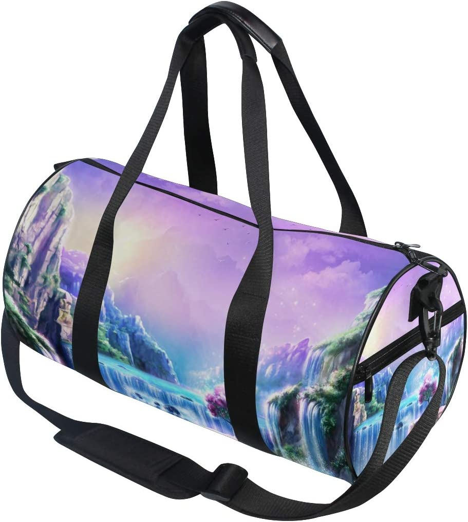 ADONINELP Travel Duffel Bag,Lightweight Durable Designed Gym Sports Bag Fashion Print Weekender Bag Large,Background Textured Feathers Crystals Aztec Style