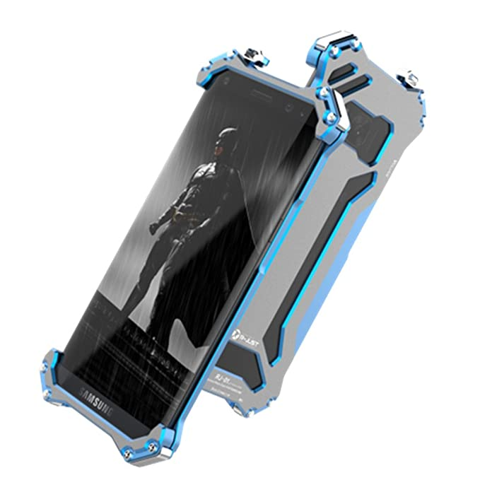 detailed look 68c03 f546f Galaxy S8 Plus Case,R-JUST Premium Shockproof Dropproof Aluminum Metal  Protection Mechanical Armor Cover Case for Samsung Galaxy S8 Plus 6.2 Inch  ...