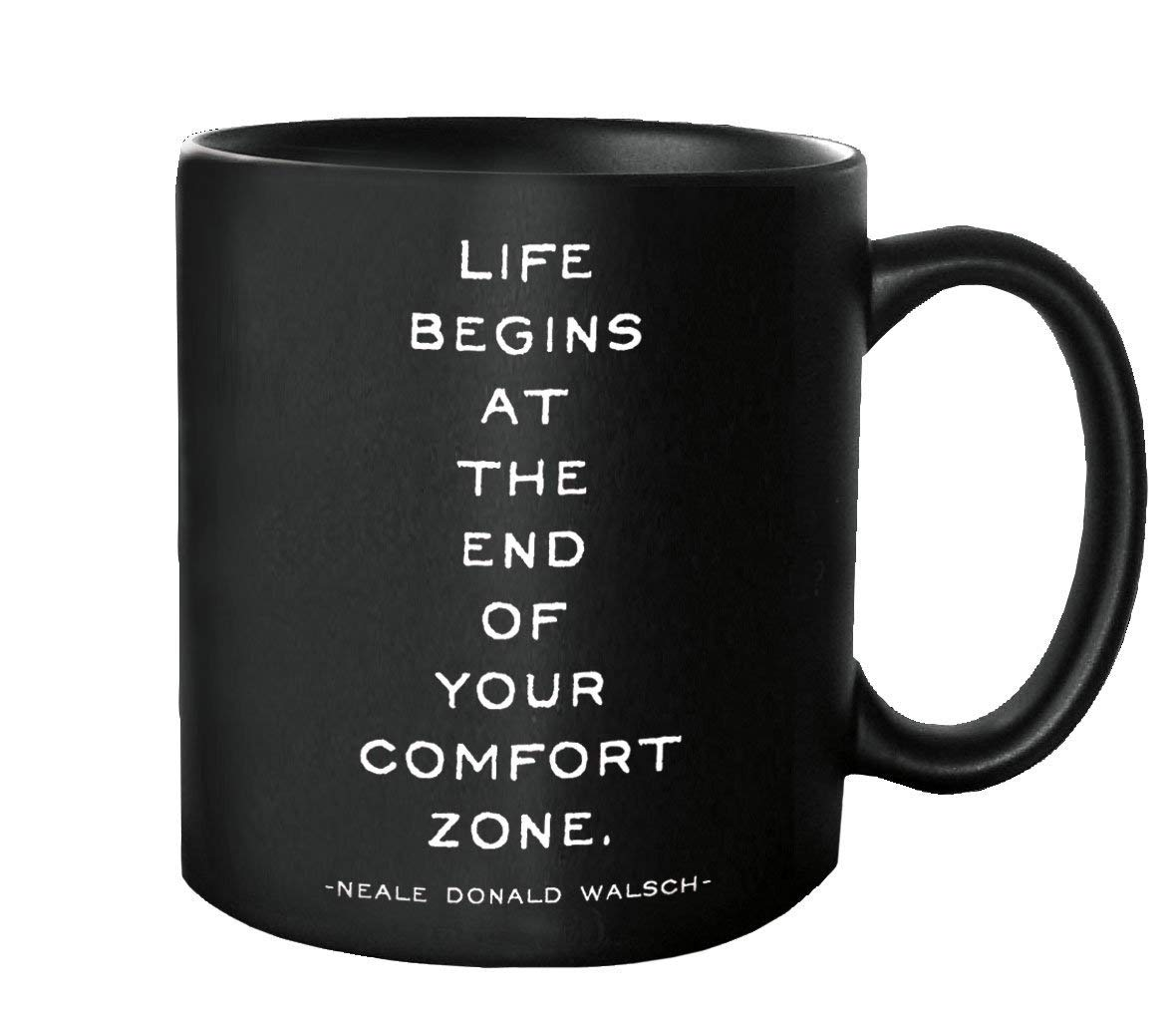 Quotable Life Begins Quotable Mug Quotes Kitchen Home MUG-G226-QUOTE