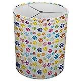 Hardback Linen Drum Cylinder Lamp Shade 8'' x 8'' x11'' Spider Construction [ Cute Dog Paw Print ]