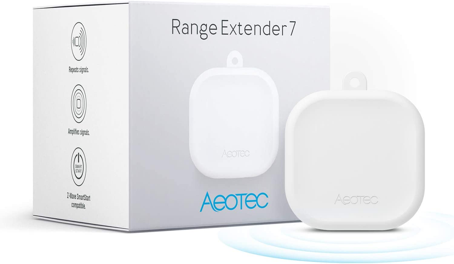 Aeotec Range Extender 7, Z-Wave Plus Repeater, Zwave Extender, Gen7, 700 Series, V2, with SmartStart and S2, Compatible with SmartThings, White