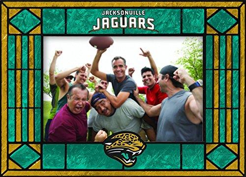 Jacksonville Jaguars Art Glass Horizontal Frame ()