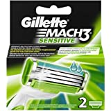 Mach3 Sensitive Refill Blade Cartridges (2 Count)