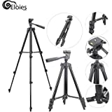 Eloies 3120 Professional Tripod for DSLR Cameras and Mobile Phones Videography & Photography | 1050 mm Tall |Free Mobile Phone Holder (Black)