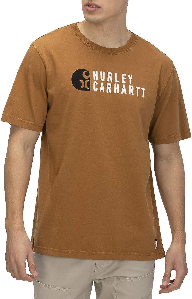 Hurley Mens Carhartt BFY Stacked Short Sleeve Tee