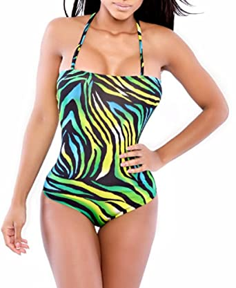 2c98b648b99c1 Spaghetti Strap Zebra Bikini with Matching Cover Up (XL