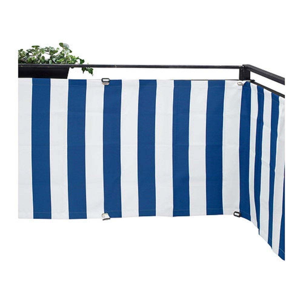 Ikea Sonnenschutz ikea dyning balcony patio deck wind sun privacy shield shade blue