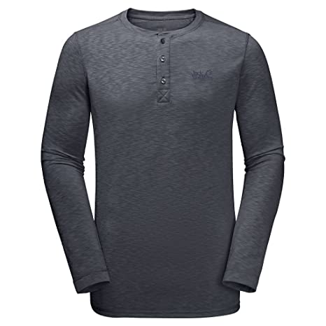 005ac9236430b9 Jack Wolfskin Winter Travel Henley Men  Amazon.de  Sport   Freizeit