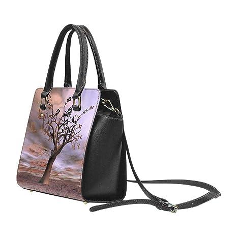 cf822e685cc8 Amazon.com: InterestPrint Fantasy Lonely Tree Womens Purses Handbags ...