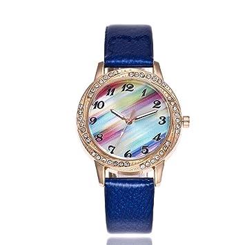 GC Reloj De Cuarzo con Reloj De Arco Iris para Damas Y Damas con Esfera De