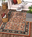 "Well Woven Darya Terracotta Orange Modern Sarouk Area Rug Updated Traditional Persian Style 3×5 4×6 (3'11"" x 5'3″) For Sale"