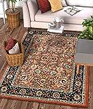 Well Woven Darya Terracotta Orange Modern Sarouk Area Rug Updated Traditional Persian Style 3x5 4x6 (3'11