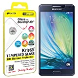AMZER Kristal Tempered Glass Screen Protector for Samsung Galaxy A7 SM-A700F - Retail Packaging - HD Clear