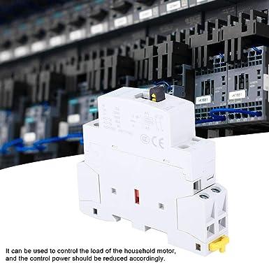 2NC BCH8-25M 230V 2P 25A Contacteur /à CA de M/énage de Rail DIN avec Commutateur de Commande Manuelle pour Le Contr/ôle Electrique du B/âtiment