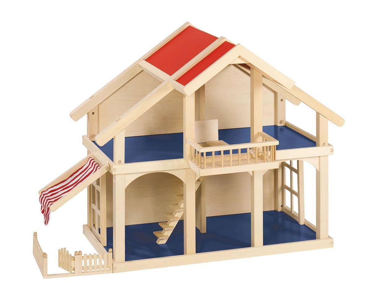 Goki 51893 Puppenhaus Villa ohne Zubehör