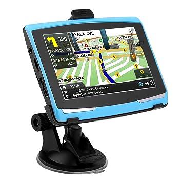 Ahomi 5in Navegación del coche Navegador GPS portátil de 8GB FM AV-IN SAT NAV