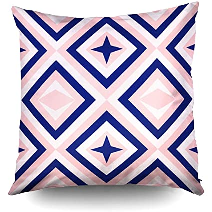 Amazon.com: XMas Abstract Geometry in Navy Blue Blush Pink ...
