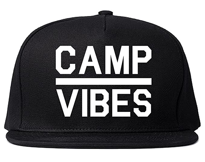 Camp Vibes Snapback Hat Cap Black at Amazon Men s Clothing store  ec0ad8ccaea