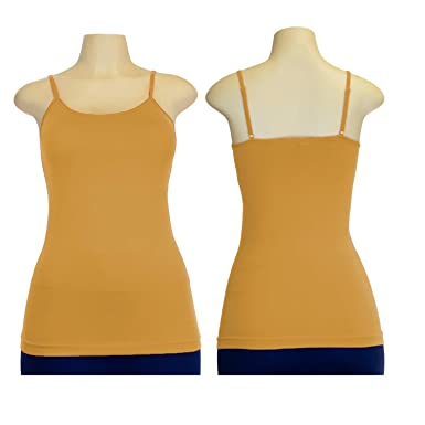 c465be1294477 (24 Pack) Wholesale Women s One Size Fits All Camisole Tanks in Beige - Bulk  Case Adjustable Spaghetti Strap Tops at Amazon Women s Clothing store
