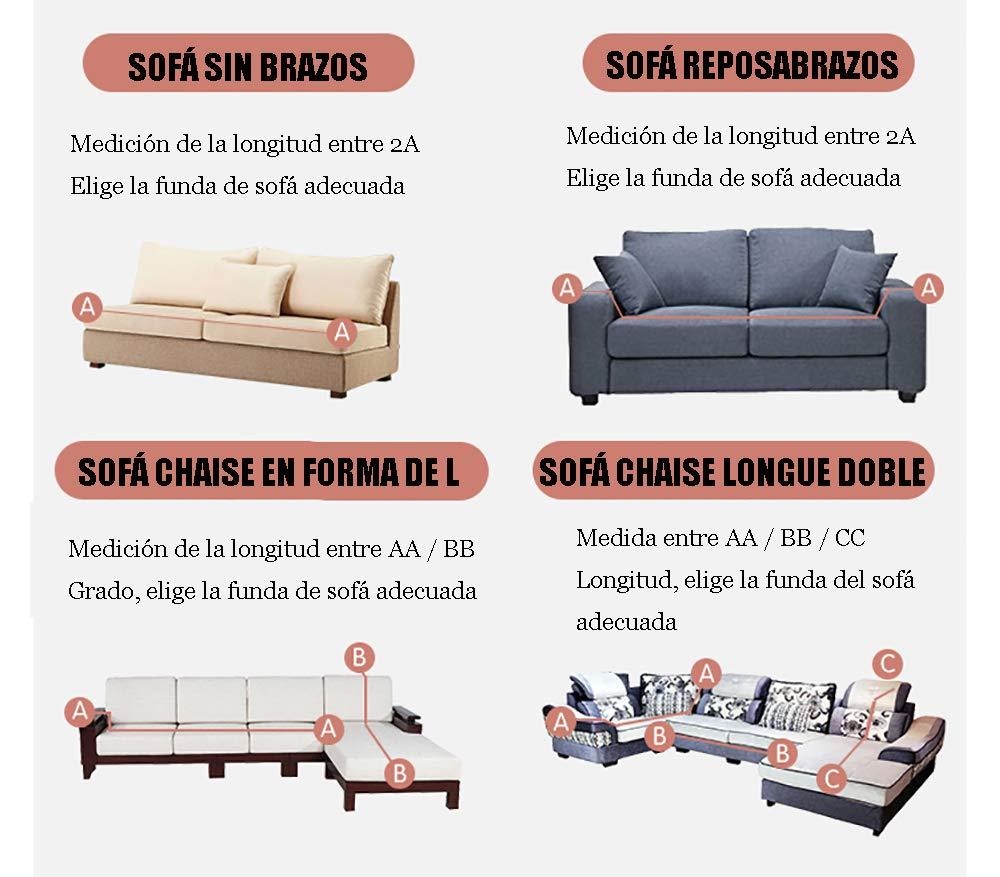 Funda De Tejido Elástico,Funda de Sofá Elástica Protector para Sofás Cubre Sofá Universal Muebles Elegante y Duradera para Asientos La Sofa Funda ...